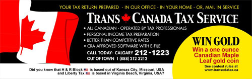 Trans Canada Tax Service Bus Poster